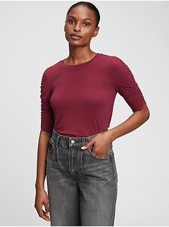 Featherweight Shirred T-Shirt