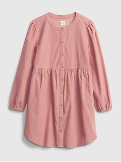 Kids Corduroy Shirt Dress