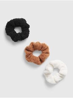 Kids Sherpa Scrunchies (3-Pack)