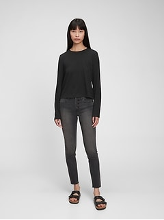 Mid Rise True Skinny Jeans with Washwell™