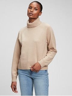 Recycled Cashmere Turtleneck Sweater