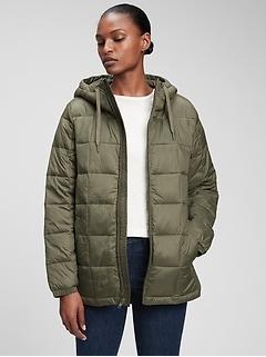 100% Recycled Nylon Lightweight Puffer Jacket