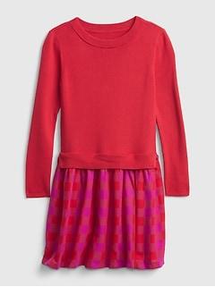 Kids Plaid Sweater Dress