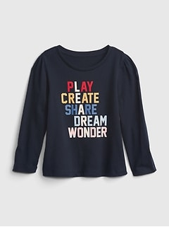 Toddler 100% Organic Cotton Mix and Match Graphic T-Shirt