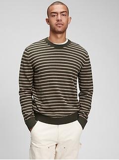 Mainstay Stripe Crewneck Sweater