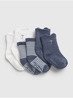 Chaussettes Premiers essentiels 100% coton biologique pour Bébé (paquet de3paires)