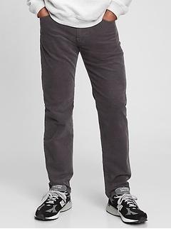 Corduroy Straight Leg Pants with Washwell™