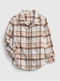 Toddler 100% Organic Cotton Flannel Shirt