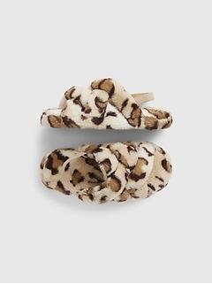 Kids Leopard Slippers