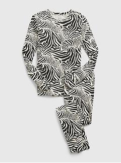 Kids 100% Organic Cotton Zebra Graphic PJ Set