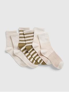Kids Stripe Crew Socks (3-Pack)
