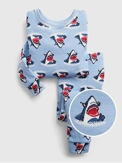 babyGap 100% Organic Cotton Shark Graphic Print PJ Set