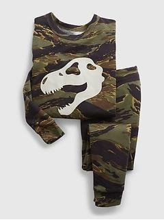 Pyjama 100% coton biologique à imprimé camouflage avec dinosaure babyGap