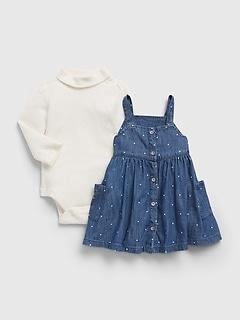 Ensemble robe en denim pour Bébé