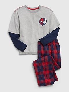 GapKids   Marvel Spider-Man 100% Recycled Polyester 2-In-1 Graphic PJ Set