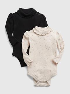 Cache-couche en tricot côtelé à col roulé pour Bébé, (paquet de 2)