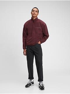 100% Recycled Polyester Half-Zip Polar Fleece Sweatshirt