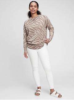 Print Tunic Sweater