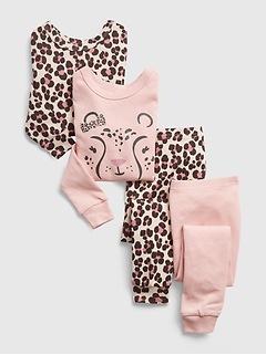 Pyjama en polyester recyclé à 100% à imprimé de guépard babyGap (paquet de 2)