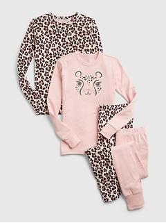 Kids 100% Organic Cotton Cheetah Print PJ Set (2-Pack)