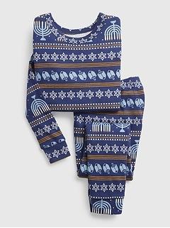 babyGap 100% Organic Cotton Hanukkah Print PJ Set