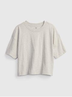 Teen 100% Organic Cotton Boxy Crop T-Shirt