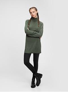 Merino Turtleneck Tunic Sweater