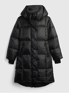 100% Recycled Polyester Heavyweight Midi Puffer Coat