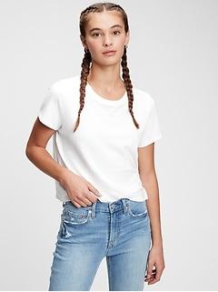 T-shirt rétréci à manches courtes