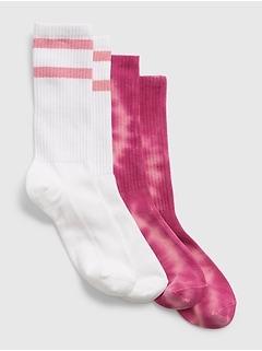 Kids Crew Socks (2-Pack)
