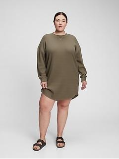 Waffle-Knit Dress